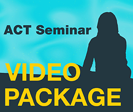 a square graphic representing ACT Seminar Video Package. Presentations plus 6.5 CEs.