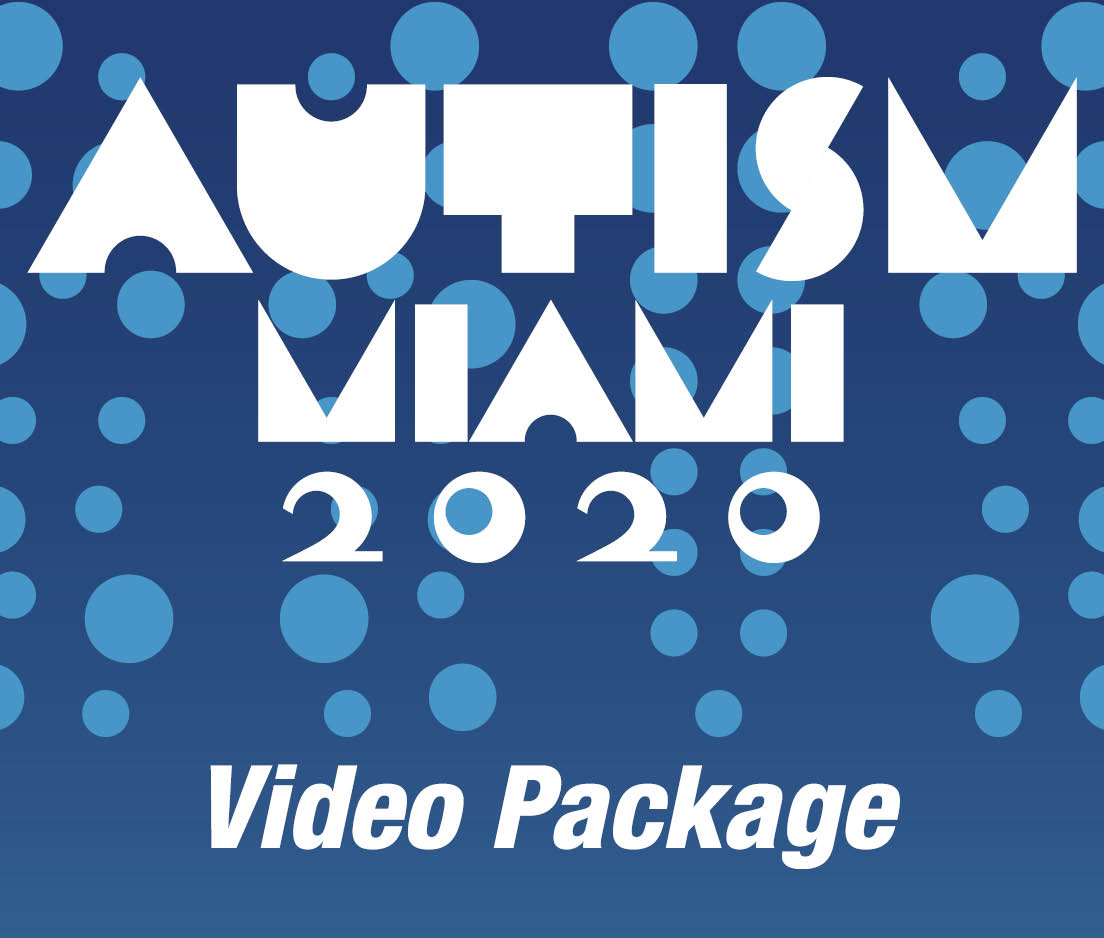 a square graphic representing 2020 Autism Video Package including quiz access for up to 11 CE Credits.