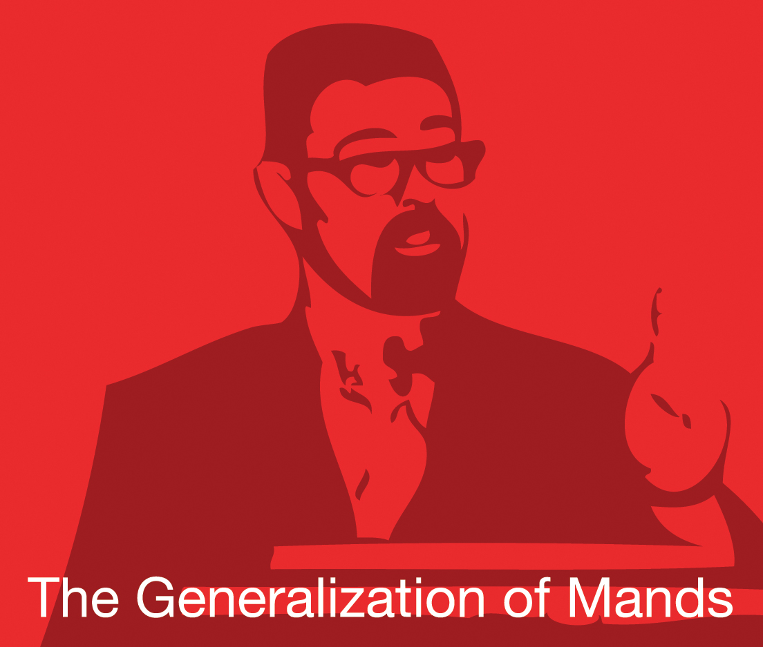 a square graphic representing ABAI Webinar The Generalization of Mands with Caio Miguel