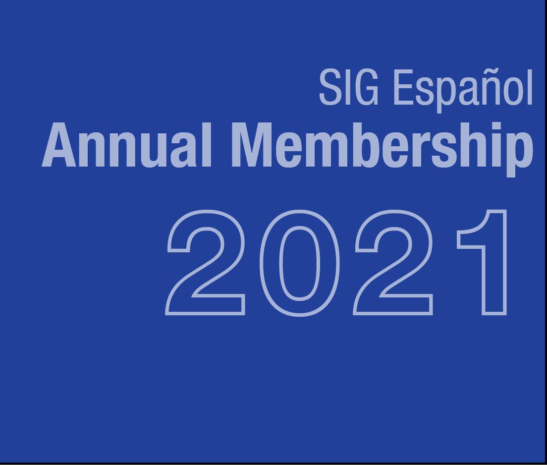 a square graphic representing SIG Espanol Annual Membership - 2021