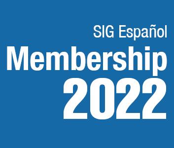 a square graphic representing SIG Espanol Annual Membership - 2022