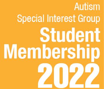 a square graphic representing Autism SIG Student Membership - 2022