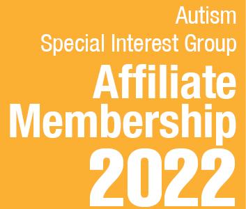 a square graphic representing Autism SIG Affiliate Membership - 2022