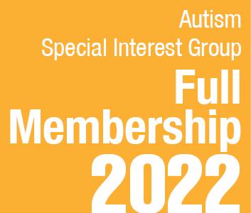 a square graphic representing Autism SIG Full Membership - 2022