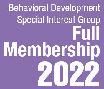a square graphic representing Behavioral Development SIG Full Membership 2022