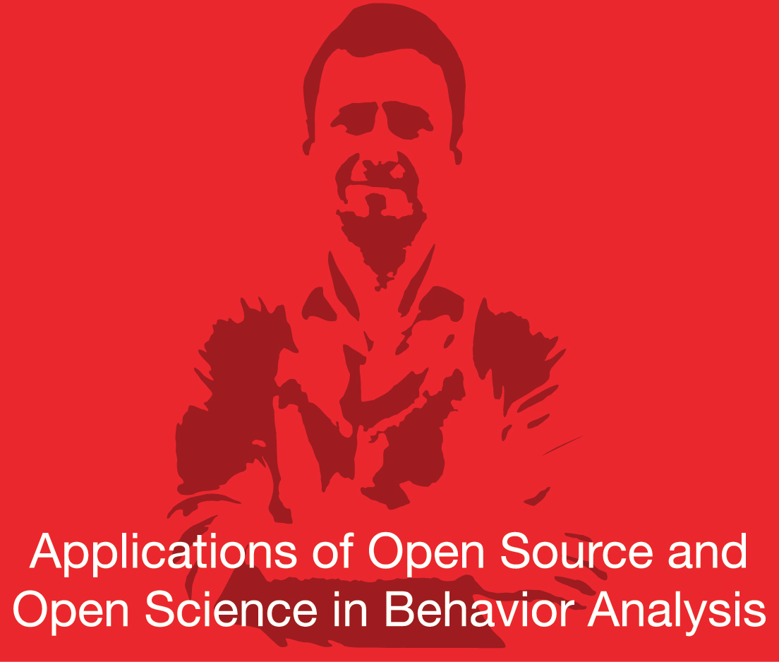 a square graphic representing ABAI Webinar: Applications of Open Source and Open Science in Behavior Analysis March 20, 2020. Presentation plus 1 BACB CE