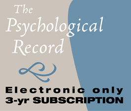 a square graphic representing TPR: The Psychological Record - 3 Years (Electronic)