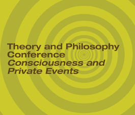 a square graphic representing Michael Dougher. Consciousness and Private Events. Presentation plus 1 BACB/PSY CE credit.