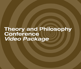a square graphic representing 2012 Theory and Philosophy Conference Video Package. Presentations plus 12.5 CEs.