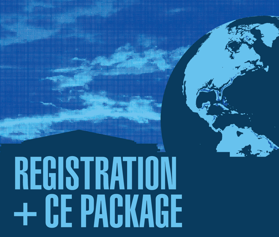 a square graphic representing Annual Convention 2020 Registration including CE Package for Qualifying Events