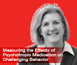 a square graphic representing ABAI Webinar: Measuring the Effects of Psychotropic Medication on Challenging Behavior